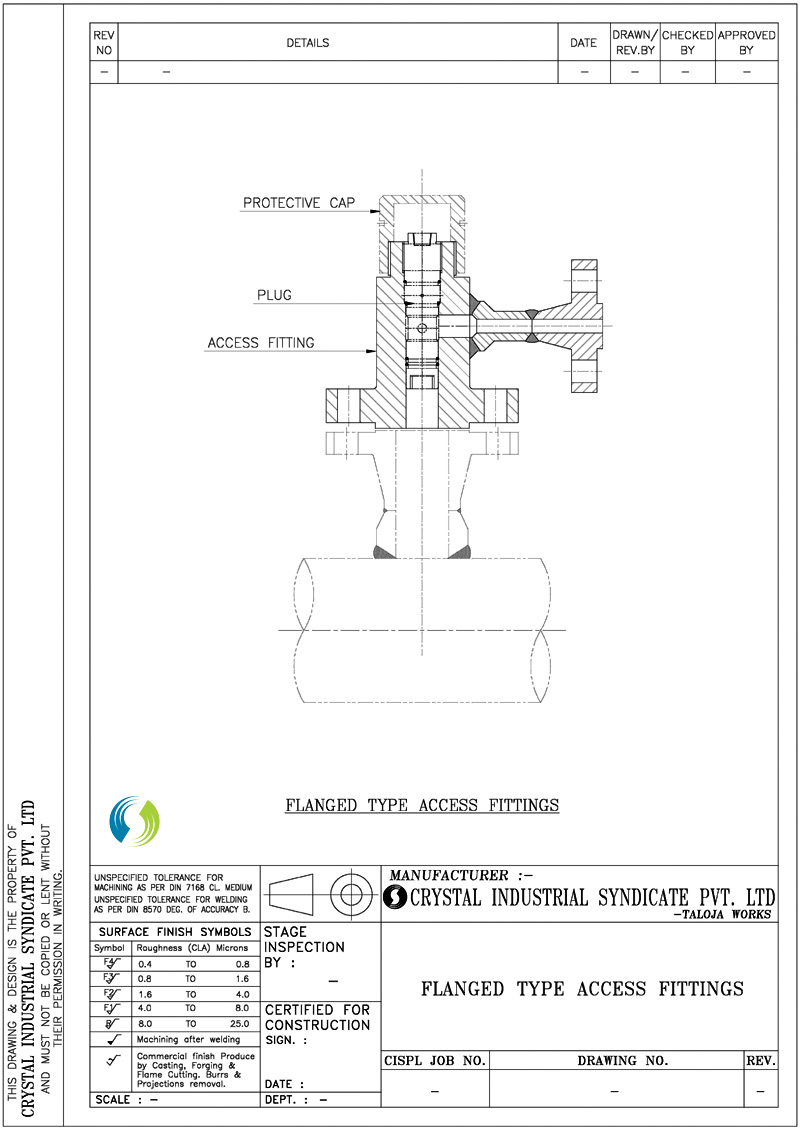 Flanged Type Access Fittings